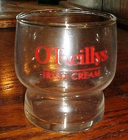O'Reillys Irish Cream advertising glass sipping cup