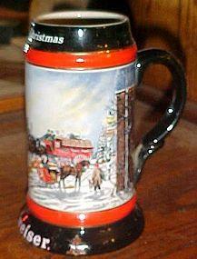 "1992 Budweiser collector stein ""A Perfect Christmas"""