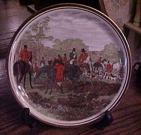 J.F. Herring Famous Hunt scenes plate England