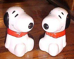 Snoopy Lisc Ufs salt and pepper shakers Benjamin and Medwin