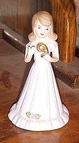 Enesco Growing up Birthday girl figurine cake topper age #9