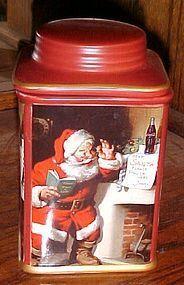 Sakura Coca Cola Santa cookie jar canister Holiday portraits Santa