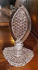Lovely vintage pressed glass perfume bottle
