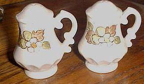 Metlox Pottery Fruit basket salt and pepper shakers