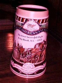 Miller Great American Events beer stein first flight of Kitty Hawk