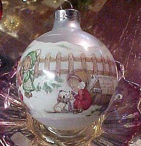"Hallmark Betsy Clark ""Home For Christmas "" 1989  ball ornament"