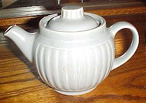 Nice grey glazed heavy porcelain teapot