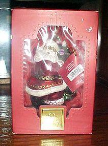 Lenox Yuletide Treasures Santa's family tree  Santa ornament