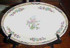 "J&G Meakin Hanley England Chatsworth deep oval bowl/platter 8 5/8"""