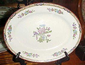 "J&G Meakin Hanley England Chatsworth deep oval bowl/platter 10"""