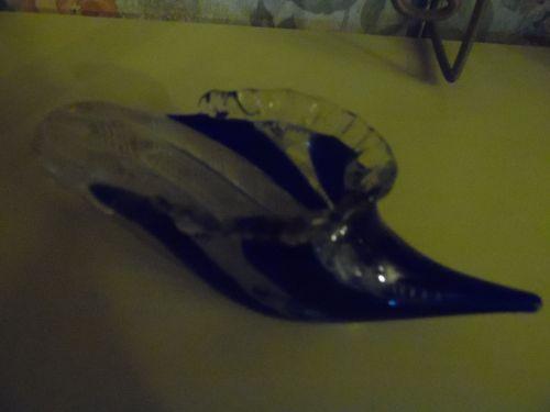 Hand blown Venetian Murano art glass slipper