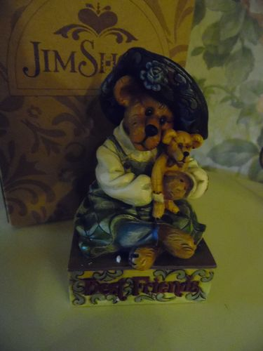 Jim Shore Maebell McBearsley with teddy Best friends figurine MIB