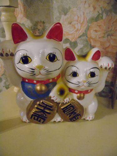 Ceramic Maneki-Neko  Lucky Asian cats bank