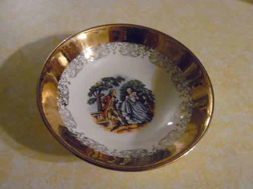"""Sabin Crest O Gold 5.5"""" fruit dessert bowl"""
