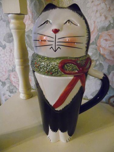 Sakura Fiddlestix Christmas cats Mug and cover