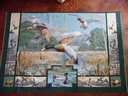 Mallard Ducks preprinted fabric panel