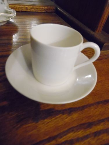Limoges Franace all white demitasse espresso cup and saucer