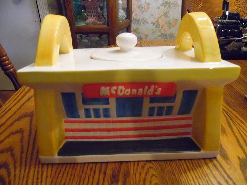 Treasure Craft McDonalds restaurant cookie jar 1997