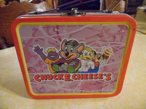 Vintage Chuck E.Cheese's mini metal lunchbox