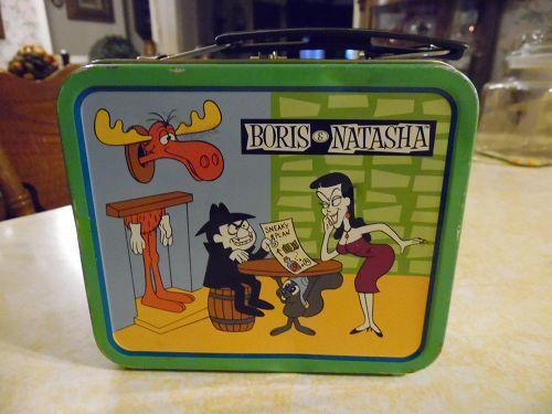 Boris and Natasha mini tin lunch box Bullwinkle Moose