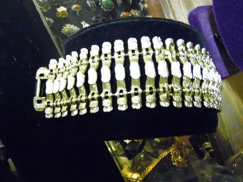 Vintage BSK wide gold tone bracelet