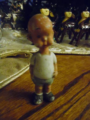 VIntage Henry bisque cartoon figurine Frozen Charolette style