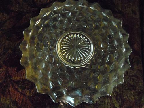 Fostoria American 12 round serving plate platter