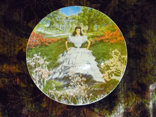 Gone with the Wind SCARLETT Knowles Bradford Collector Plate 1978