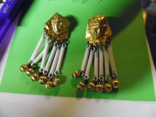 Awesome Egyptian King Pharoh clip earrings