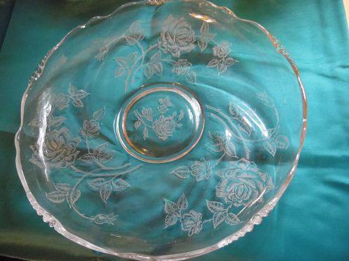 Heisey Rose  pattern 12 3/4 Gardenia float bowl