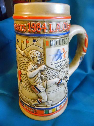 Anhauser Busch Michelob 1984 LA Olympics commemorative beer stein