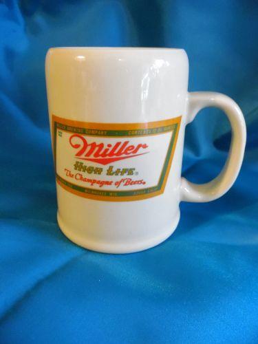 Vintage Japan Miller High Life logo beer mug stein