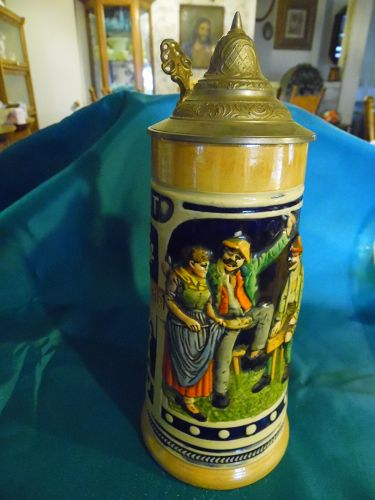 Germany Beer stein with lid Years go by the thirst remains constant