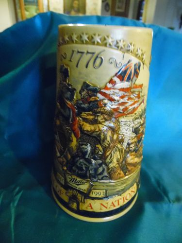 Miller Birth of a nation Washington crossing the Delaware beer stein