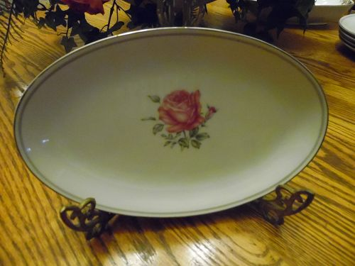 Fine China of Japan IMPERIAL ROSE oval relish / gravy liner