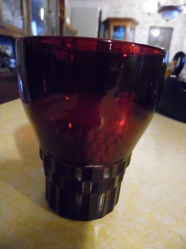 Vintage Anchor Hocking ruby red windsor drinking glass 9 oz