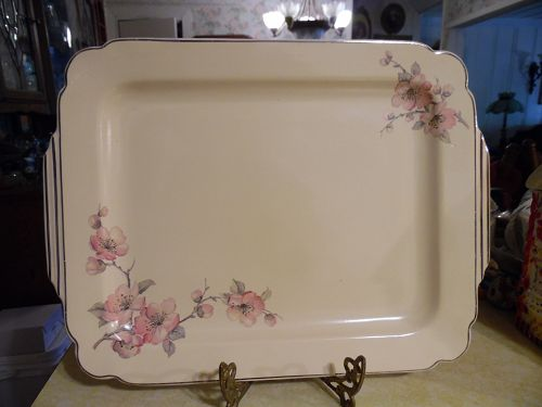 Wells China Homer Laughlin pattern C-84 Century shape  platter 15 1/4""