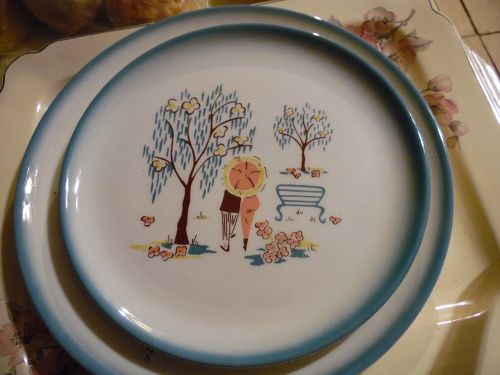 Brock of California Forever Yours salad luncheon plate 9""