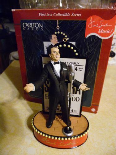 "Carlton Cards ""Ol' Blue Eyes"" Frank Sinatra Christmas Ornament - Music"