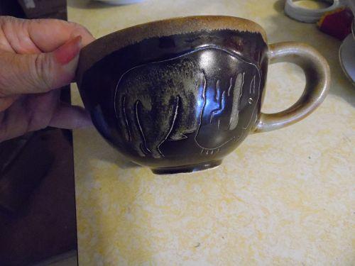 Mara Pottery latte soup mug Buffalo