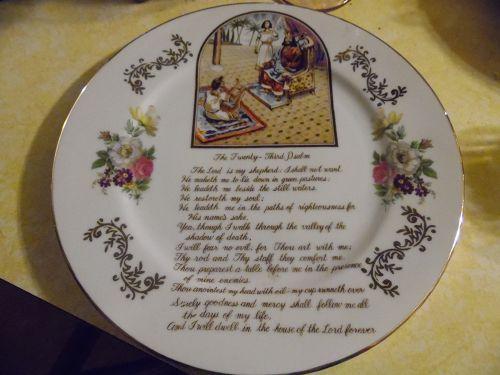 Vintage Norleans Twenty Third Psalm plate