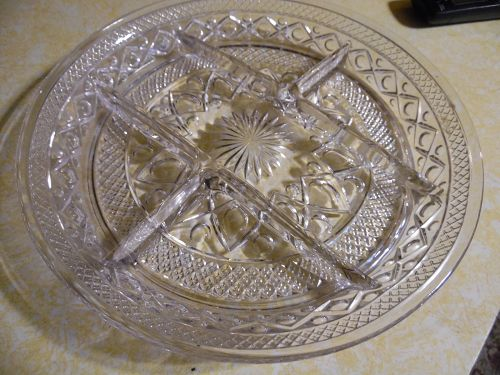 Imperial Cape Cod 5 part divided relish tray #1602 & #160