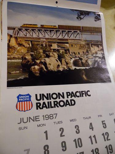 Union Pacific Railroad calendar 1987 12.5 x 23 Complete