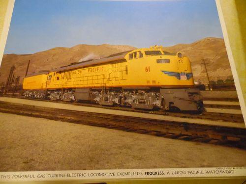 Union Pacific Gas turbine-electric locomotive color print late 50s