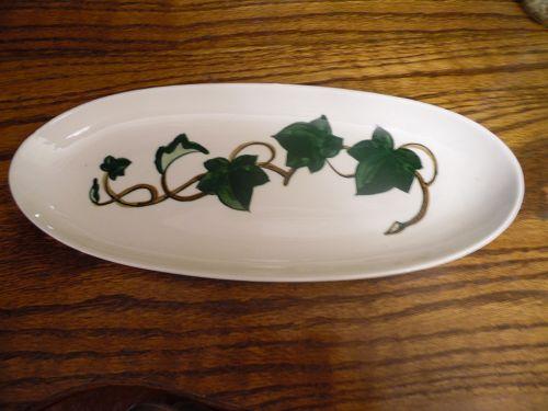 Metlox Poppytrail California Ivy 13 inch celery plate