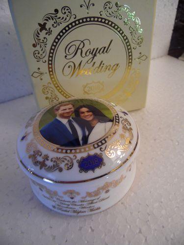 Souvinir trinket box Prince Harry and Meghan Markle brand new boxed