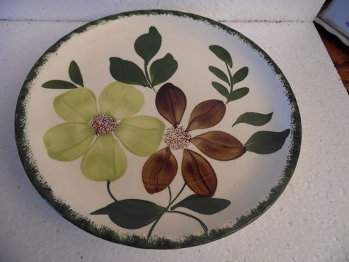 Blue Ridge Potteries Green Briar dinner plate 9 3/8""