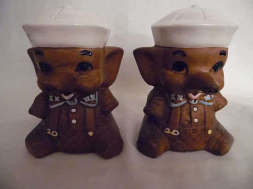 Twin Winton USA elephant sailor salt and pepper shakers