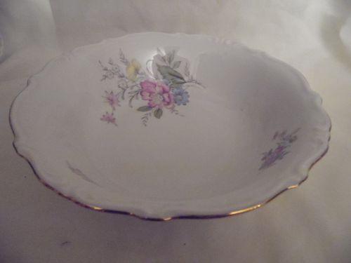 """Bavaria West Germany fine china serving bowl floral gold trim  9.5"""""""
