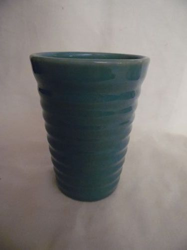 """Vintage Bauer  rings 12 ounce  green tumbler 4.5"""""""